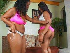 Big tits ebony enjoys a big cock