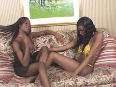 Horny dude in action with 2 trannies