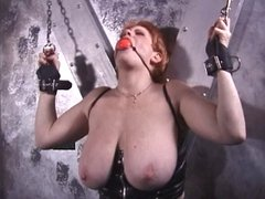 Busty chick getting punished by domina