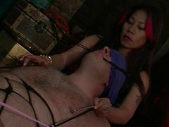 BDSM action involving  a slave &  his hot mistress