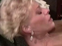 Blonde MILF in heat banged hard