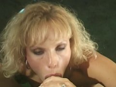Blonde chick sucking hard cock