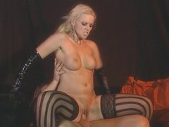 Big tits chick goes for a hard cock