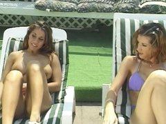 2 lesbians chicks in action outdoors