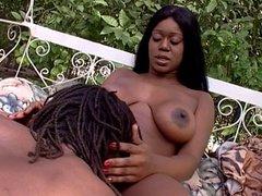 Black couple banging the woods
