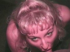 Blonde hottie sucks hard cock