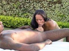 Black man pounding  a sexy bitch