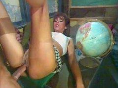 Horny student fucking a big dick