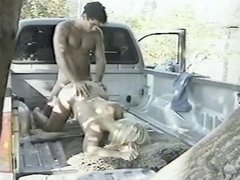 Horny slut getting cunt rocked in truck