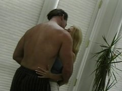 Hot sexy blond whore twat fucked