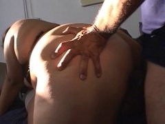 Fat chick & her friend banged by big cock