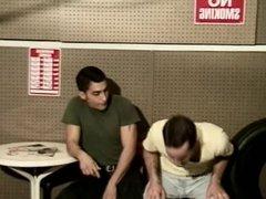 Sexy men fucking in the carport