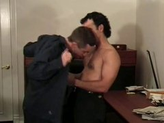 Gay police commissioner getting dick sucked
