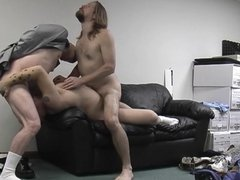 Boss fucking his schlong with hand pussy