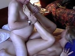 Guy putting dildo in her pussy