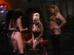 Randy lesbian threesome in the den