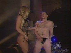 Hot blonde has a biker boy as her slave