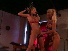 2 smoking hot big tit lesbians into BDSM action