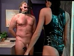 Guy bound and balls clamped