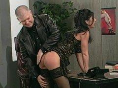 Girl gets good ass slapping