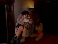 Cute redhead spanked by a horny guy