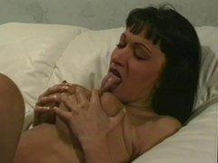 Big tits brunette banged hard