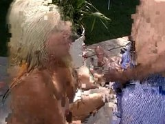 Blonde sucks hard & gets a nice facial