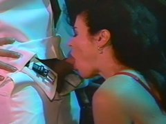 Horny brunette MILF cougar teases and doing great blowjob and gets fuck