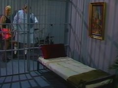 Flexible slut gets pussy fucked in cell