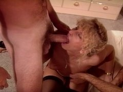Lady fucking two guys