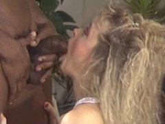 Blonde milf gets fucked by black stud