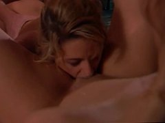 Guy gets double blow job and fucks two bitches