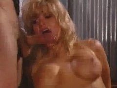 Blonde bimbo fucked by 4 dicks