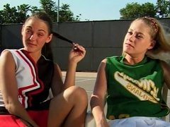 Lesbian cheerleaders licks cunt