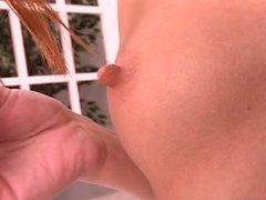 Petite brunette has wild juicy pink pussy