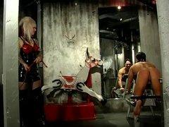 Sexy Mistress Lola spanking her slave