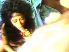 Black haired chick gets hard fucked in garage