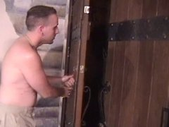 Blonde is surrounded by cock, covered in cum in psychedelic apartment