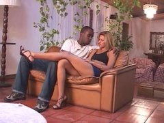 Latin beauty gets her pussy licked by black stud