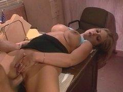 Sexy blonde fucked hard at gunpoint