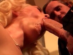 Sexy blonde babe gets her asshole pounded by her hung lover