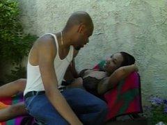 Black guy fucks and facializes ebony girlfriend