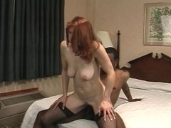 Cute young white brunette loves a huge black dick in her tight asshole