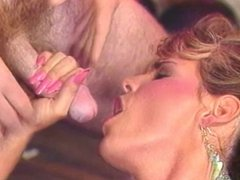 Erica Boyer gets deep penetration by two guys on the bedroom