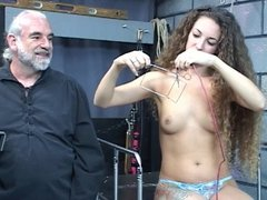 Nicole gets wild shock therapy from old guy