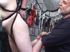 Young blonde is captured as sex slave.