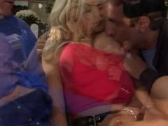 Vicky fucking four guys in the couch and gets DP banged and creamed