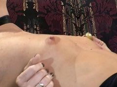 Hot and horny lesbians take turns licking their tits, assholes and pussies