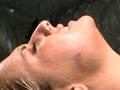Dude in hot tub licks and fingers b-cup blonde's pussy then she mounts his cock