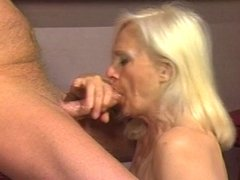Truck stop whore gets fucked and facialized by fat older dude